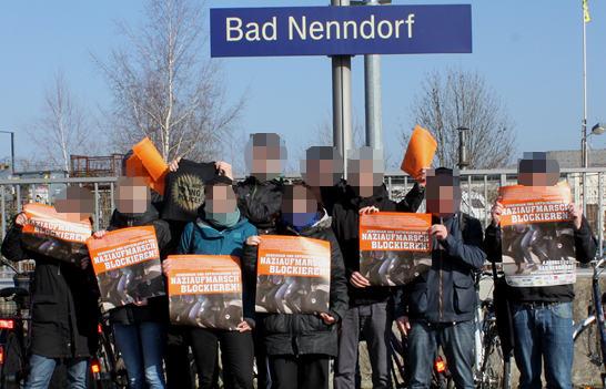 Verteilaktion gegen den Naziaufmarsch in Bad Nenndorf